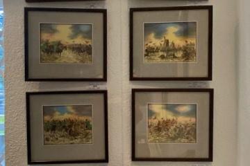 Série sedmi obrazů, kombinovaná technika, 18.000,-/ks