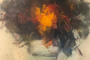 """""""Kytice"""", olej na plátně, 50x50, 14.000 Kč"""