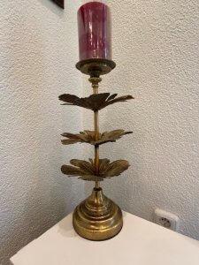 Svícen, kov s patinou, v. 46 cm, 1.790,-