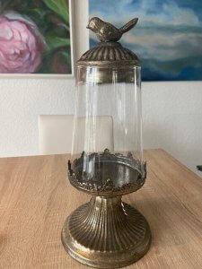 Lucerna, kov + sklo, v. 30 cm, 1.590,-