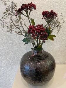 Portugalská keramika, měděná glazura, v. 27 cm, š. 27 cm, 1.690,-
