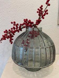 Skleněná váza, v. 30 cm, ⌀ 30 cm, 2.090,-