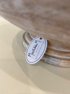 Mísa dřevěná, bílá patina, Matilde M. France, v. 12 cm, ⌀ 32 cm, 2.400,-