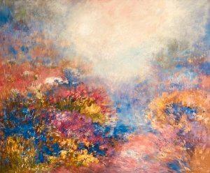 """""""Louka"""", olej na plátně, 80x100, 34.000 Kč"""