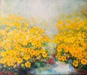 """""""Blatouchy"""", olej na plátně, 85x100, 34.000 Kč"""
