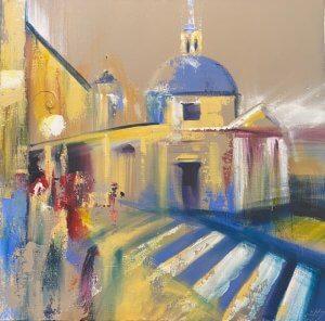 """""""Prázdniny v Římě"""", olej na plátně, 80x80, 13.500 Kč"""