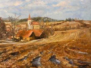 """""""Předjaří"""", olej na plátně, 40x50, 7.600 Kč"""