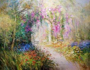 """""""Kouzelná zahrada"""", olej na plátně, 65x81, 31.000,- (obraz je v Polsku, možnost zaslání)"""